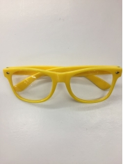 Clear with Yellow Frame - Novelty Glasses