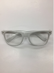 Clear with White Frame - Novelty Glasses