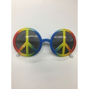 Rainbow Peace Sign Glasses - Novelty Glasses