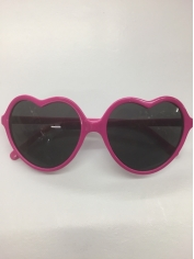 Pink Heart Shaped Glasses - Novelty Glasses