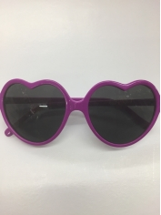 Purple Heart Shaped Glasses - Novelty Glasses