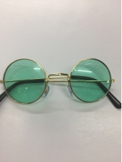 60's Hippie Round Green - Novelty Sunglasses