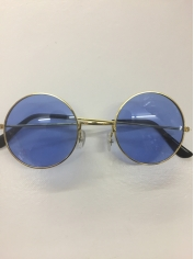 60's Hippie Round Blue - Novelty Sunglasses