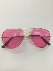 Aviator Novelty Sunglasses - Pink