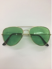 Aviator Novelty Sunglasses - Green