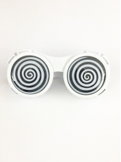 Prismatic Hypnotic White - Novelty Glasses