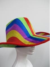 Rainbow Cowboy Hat - Mardi Gras Accessories