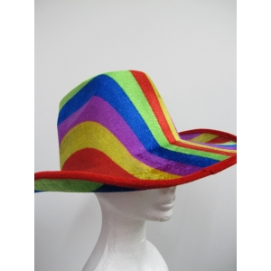 Rainbow Cowboy Hat - Mardi Gras Accessories