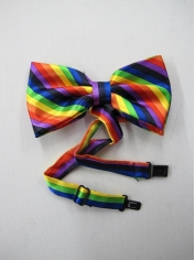Rainbow Bow Ties - Mardi Gras Accessories