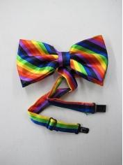 Rainbow Bow Ties - Mardi Gras Accessories