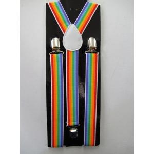 Rainbow Suspenders - Mardi Gras Accessories