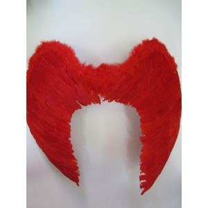 Large Red Feather Angel Wings
