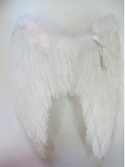 Large White Feather Angel Wings (oversized toy)