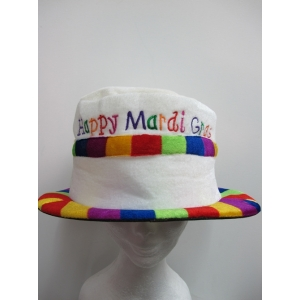 Happy Mardi Gras Hat - Mardi Gras Costumes accessories