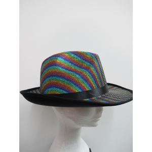 Glitter Rainbow Hat - Mardi Gras Costumes Accessories