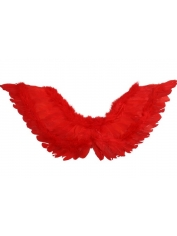Large Red Feather Angel Wings Up