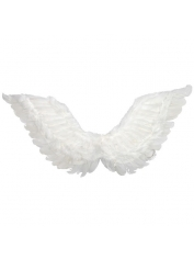Medium White Feather Angel Wings Up