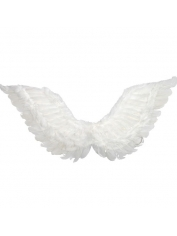 Large White Feather Angel Wings Up