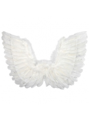 Small White Feather Angel Wings Up