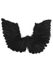 Small Black Feather Angel Wings Up