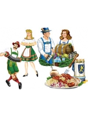 "German Oktoberfest Cut Out 16"" Pkt 4"