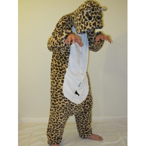 Brown Leopard Onesies - Animal Onesies