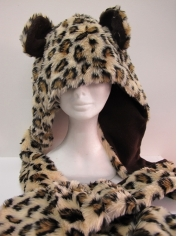 Long Leopard Hood - Animal Hood