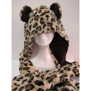 Long Leopard Hood - Animal Hood