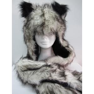 Long Grey Fox Hood - Animal Hood
