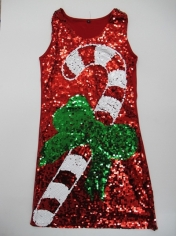 Candy Cane Sequin Dress - Christmas Costume