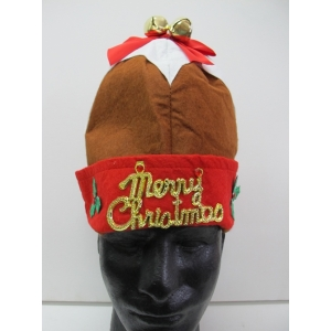 Christmas Pudding Hat with Bells - Christmas Hats