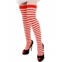 Thigh High Red/White Striped Stocking