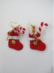 Christmas Red Socks Earring