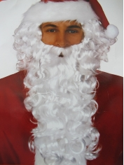 Deluxe Santa Wig and Beard - Christmas Costume