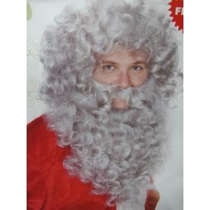 Grey Santa Claus Wig and Beard - Christmas Accessories