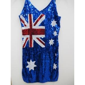 Australia Flag Sequin Dress - Australia Day Costumes