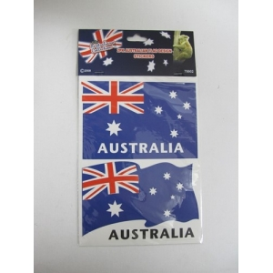 2 PK Australian Flag Stickers