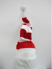 Santa Wired Red White Striped Hat - Christmas Hats