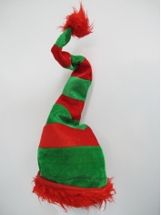 Santa Wired Red Green Striped Hat - Christmas Hats