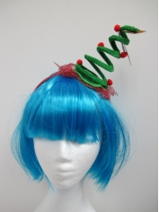 Mini Christmas Tree Coil Spring Hat