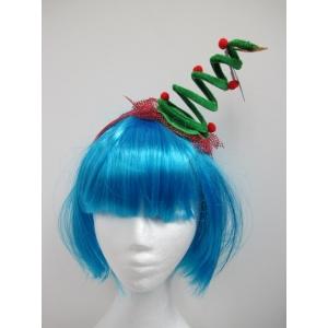 Mini Christmas Tree Coil Spring Hat