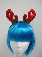 Red Sequin Reindeer Headband