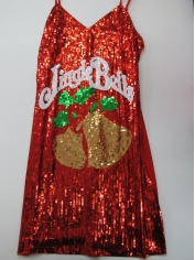 Sequin Christmas Bell Dress - Christmas Costumes