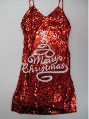 Sequin White Christmas Tree Dress - Christmas Costumes