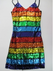 Sequin Rainbow Dress - Mardi Gras Costumes