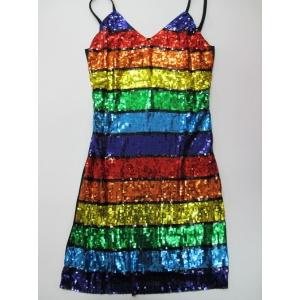 Sequin Rainbow Dress - Mardi Gras Costumes