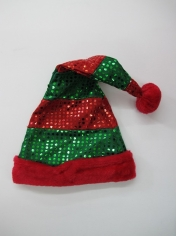 Red Green Sequin Santa Hat - Christmas Hat