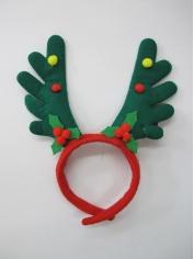 Green Reindeer Headband - Christmas Hats