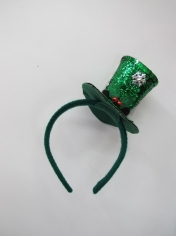 Green Glitter Mini Top Hat - Christmas Hat