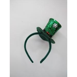 Green Glitter Mini Top Hat - Christmas Hat